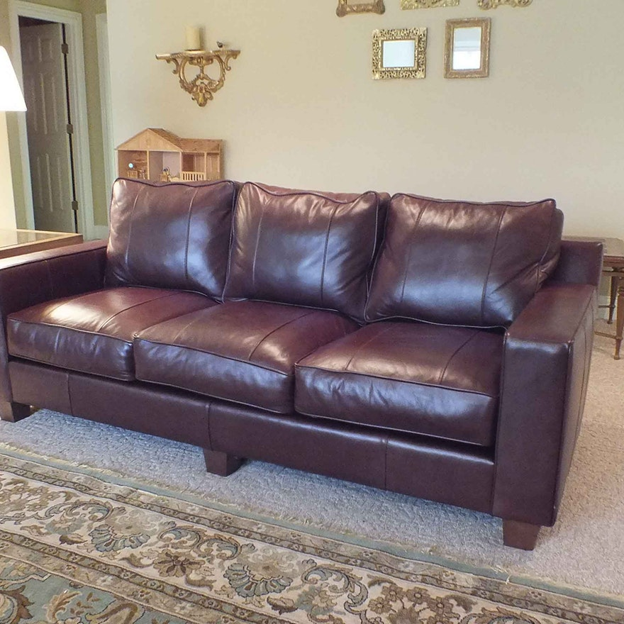 Norwalk Leather Sofa