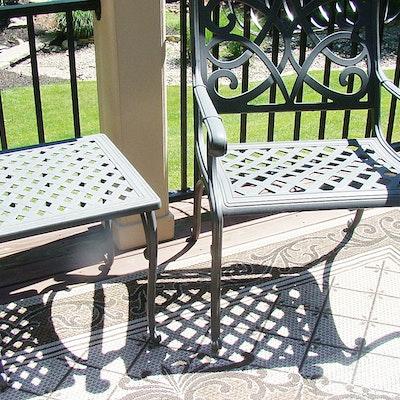 cast metal patio chair