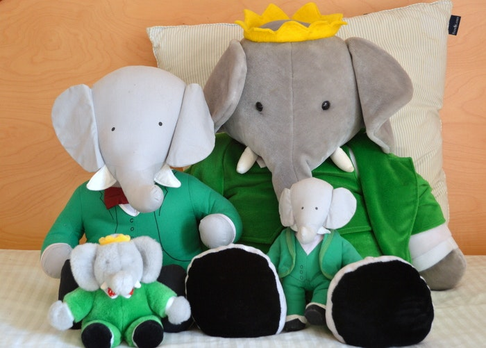Babar Plush Collection Ebth