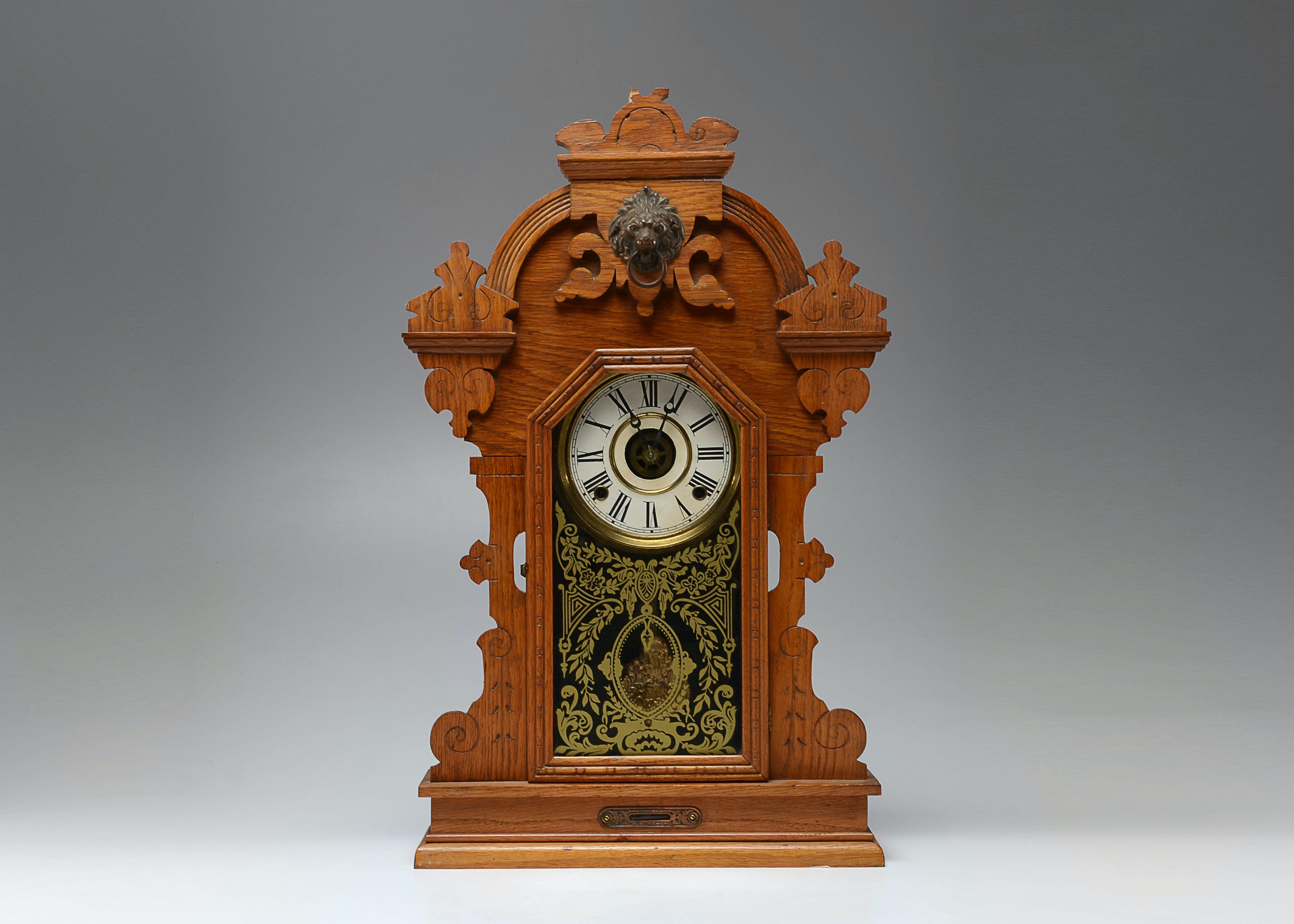 Antique victorian mantel clocks for sale