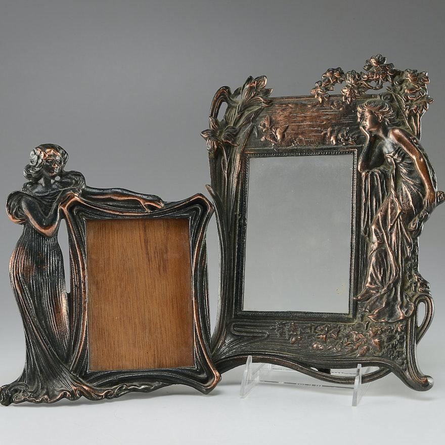 Two Art Nouveau Metal Frames : EBTH