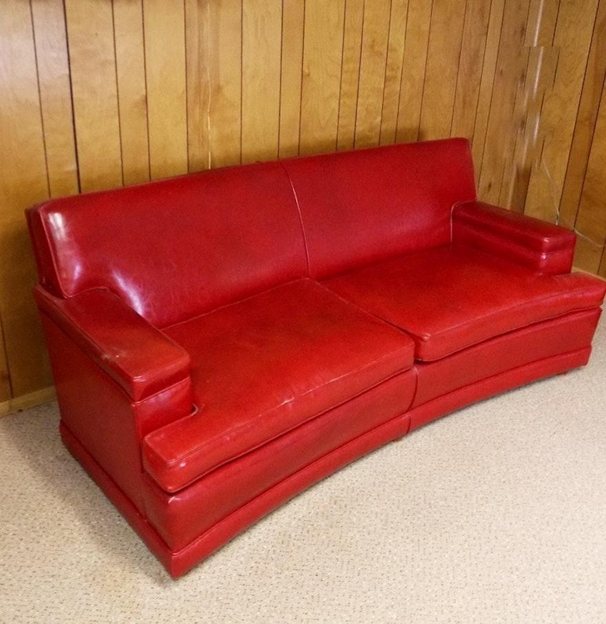 Vintage naugahyde sofa for Sofa cama medellin