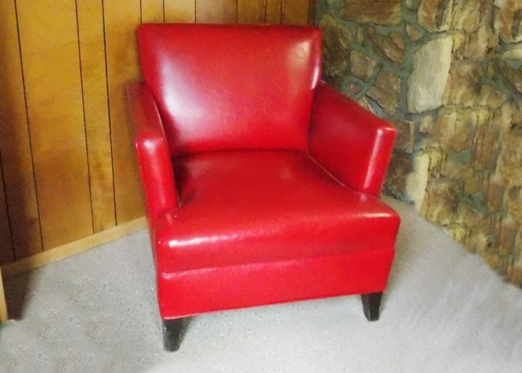 Exceptionnel Vintage 1960u0027s Red Naugahyde Chair ...