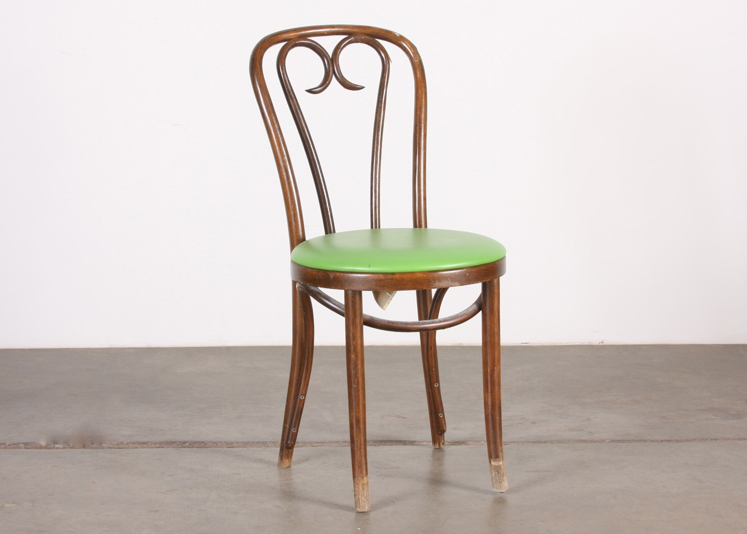 Vintage Bentwood Chair With Green Vinyl Seat ...