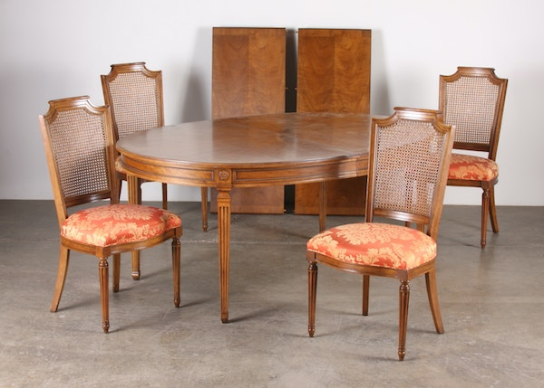 gorgeous baker dining table and chairs ebth