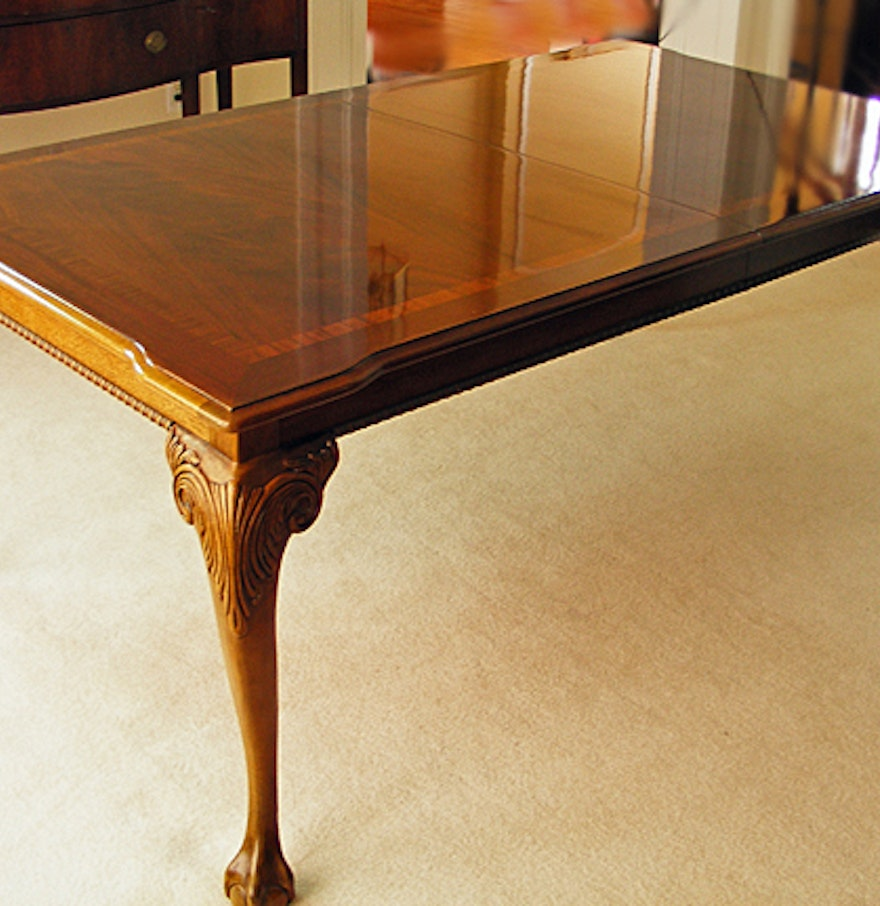 Thomasville mahogany collection dining room table ebth for Dining room tables thomasville