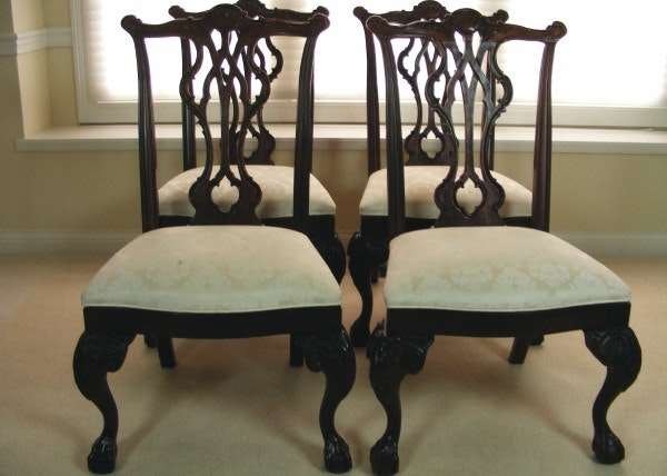"Set of Four Thomasville ""Mahogany Collection"" Dining Room ..."