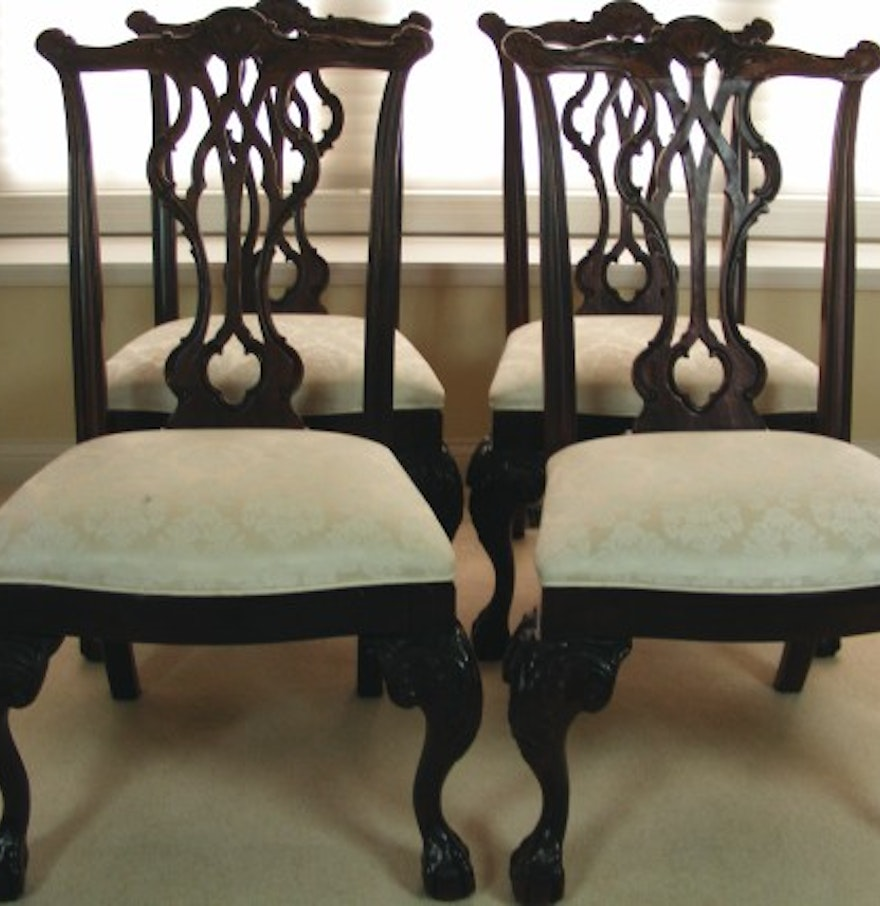 "Thomasville Dining Room Furniture: Set Of Four Thomasville ""Mahogany Collection"" Dining Room"