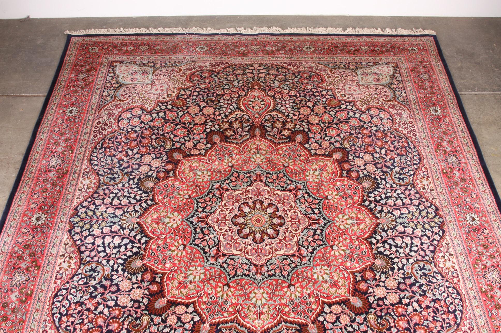 Striking Turkish Silk Hereke Rug