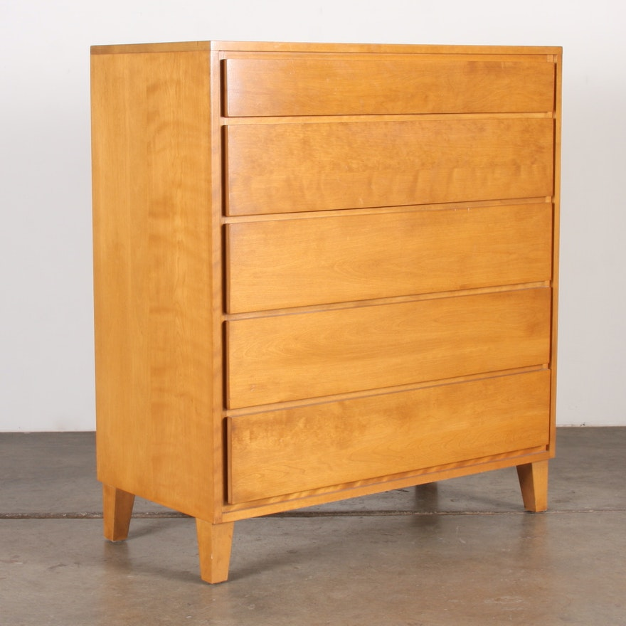 Conant Ball Furniture Mid Century Modern Tall Maple Dresser