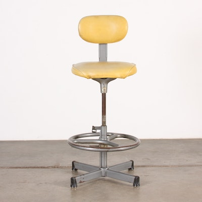High Back Swiveling Drafting Chair - Vintage Chairs, Antique Chairs And Retro Chairs Auction In EBTH