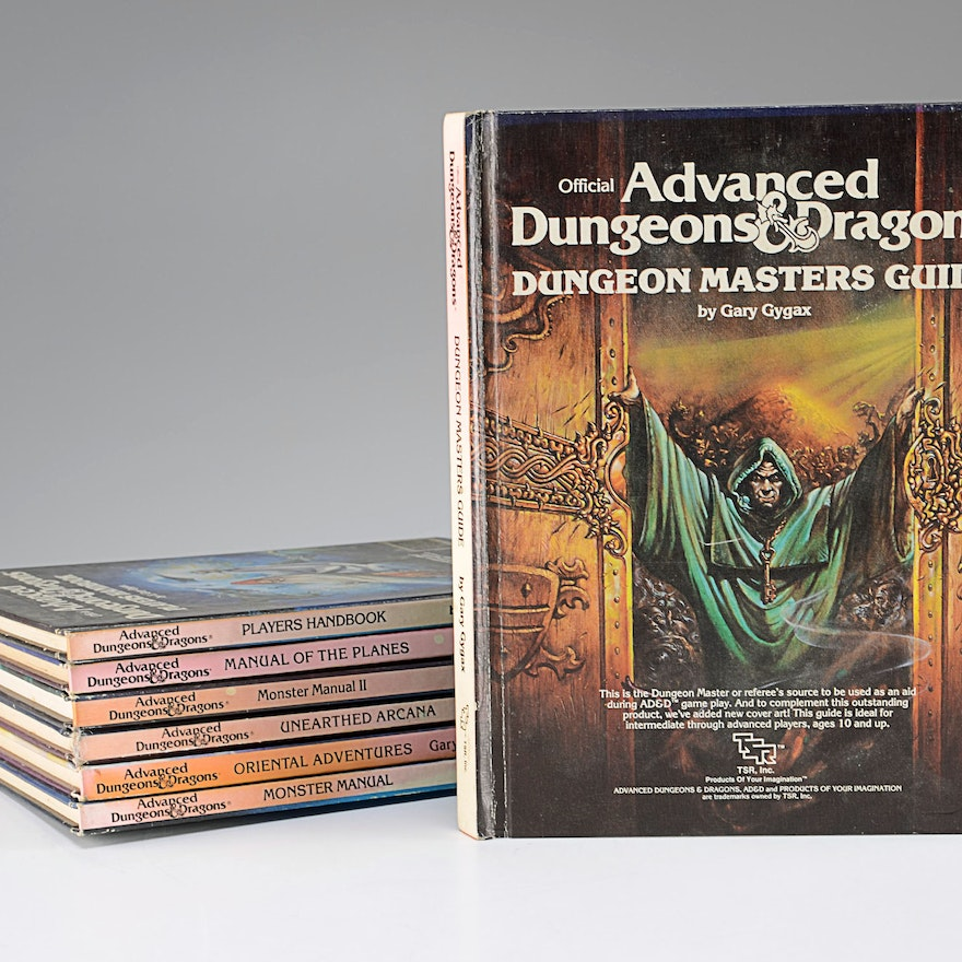 Seven Vintage Advanced Dungeons and Dragons Books