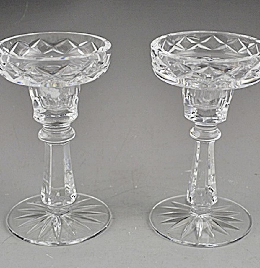 Pair of irish crystal candle sticks by cavan ebth for Cava cristal