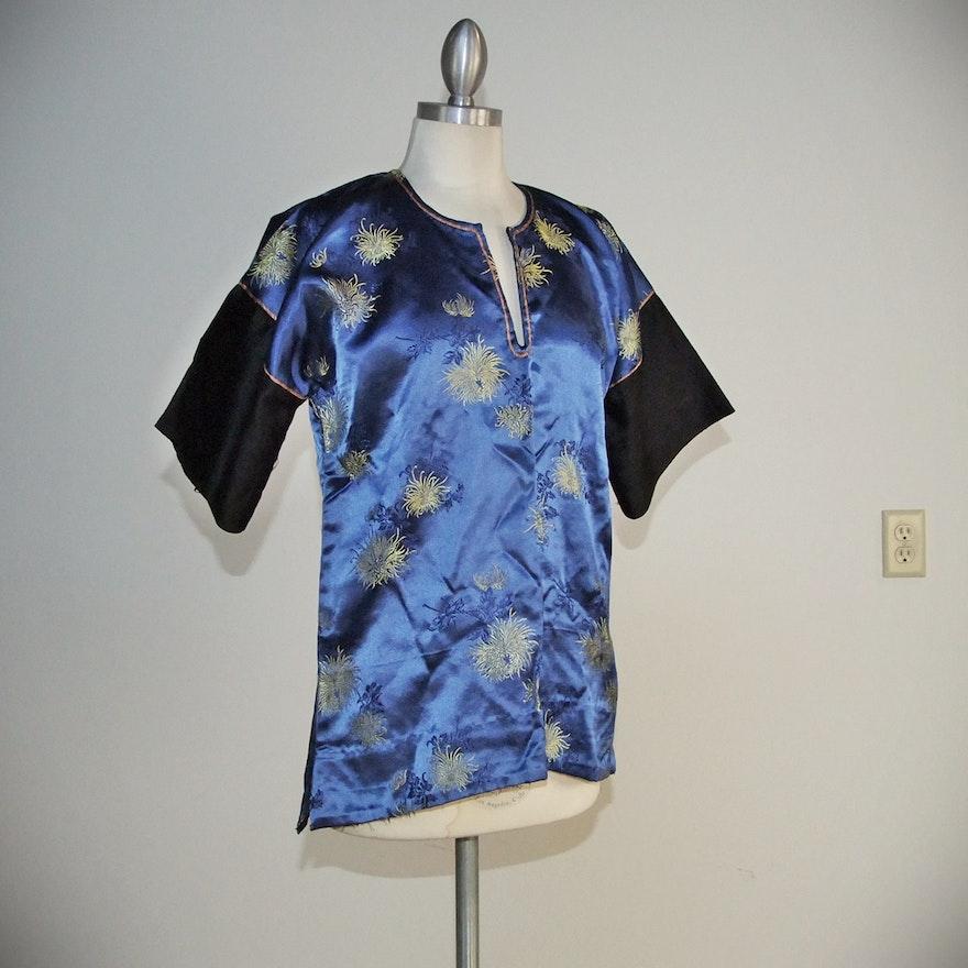 194047e29802cd Handstitched vintage Chinese brocade silk blouse   EBTH
