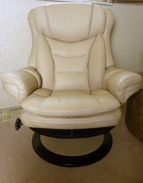 Lazy Boy Leather Swivel Recliner Ebth