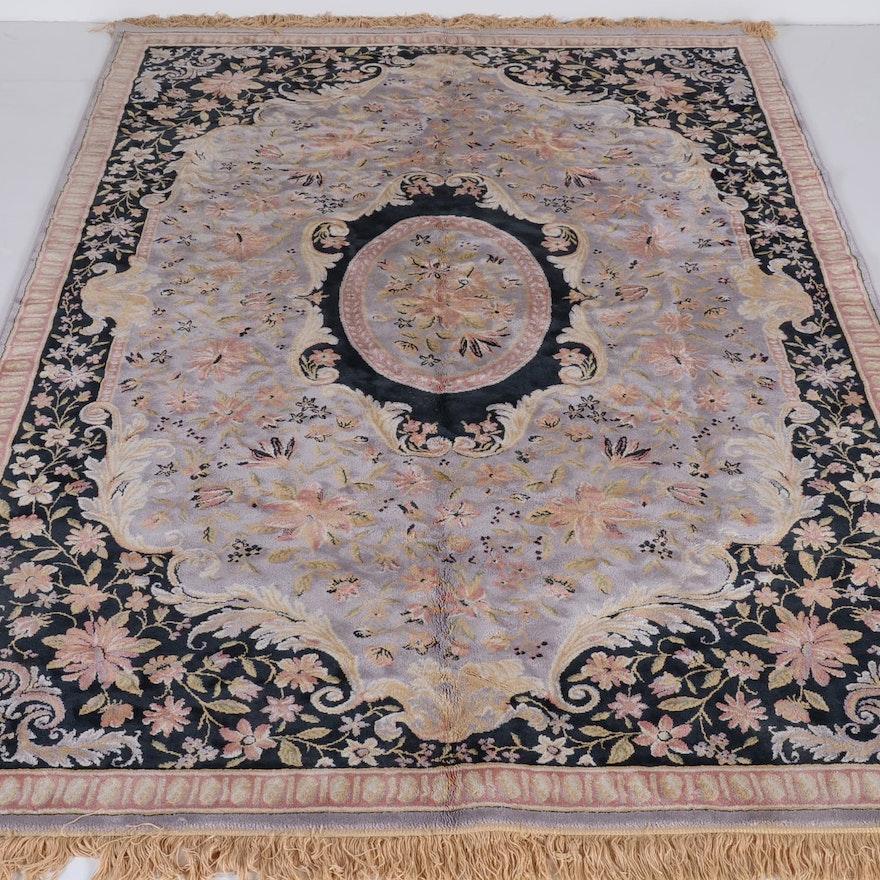 Luxurious Man Made Silk Rug