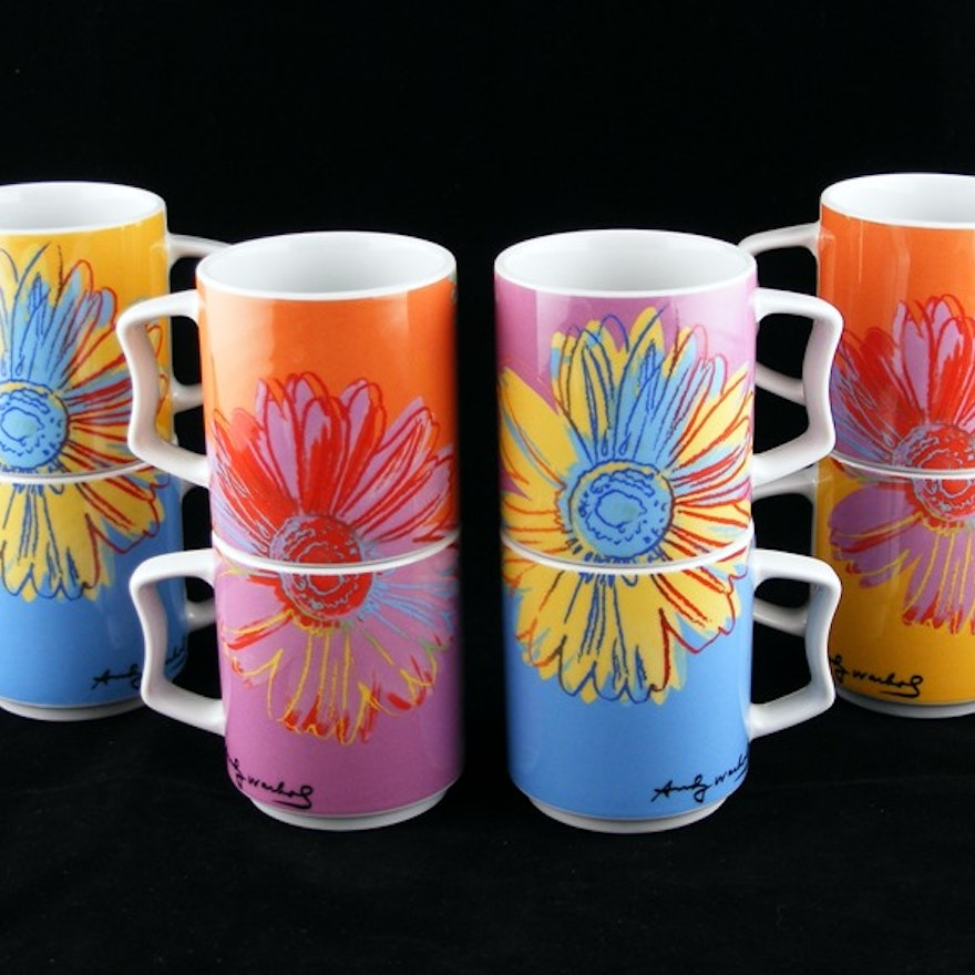 rosenthal studio line andy warhol coffee mugs ebth. Black Bedroom Furniture Sets. Home Design Ideas
