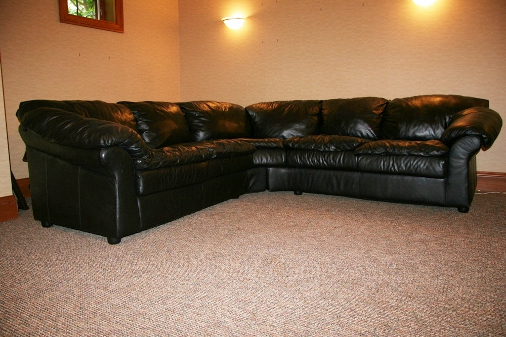 Sealy Leather Sectional ... : sealy sectional - Sectionals, Sofas & Couches