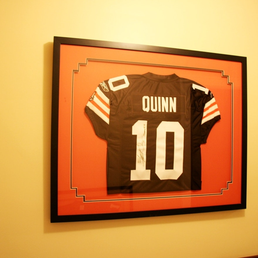 watch a47c8 4ea4c Signed Brady Quinn Jersey