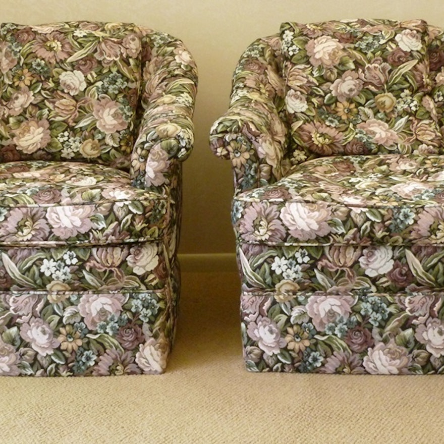 Groovy Floral Print Accent Chairs Gmtry Best Dining Table And Chair Ideas Images Gmtryco