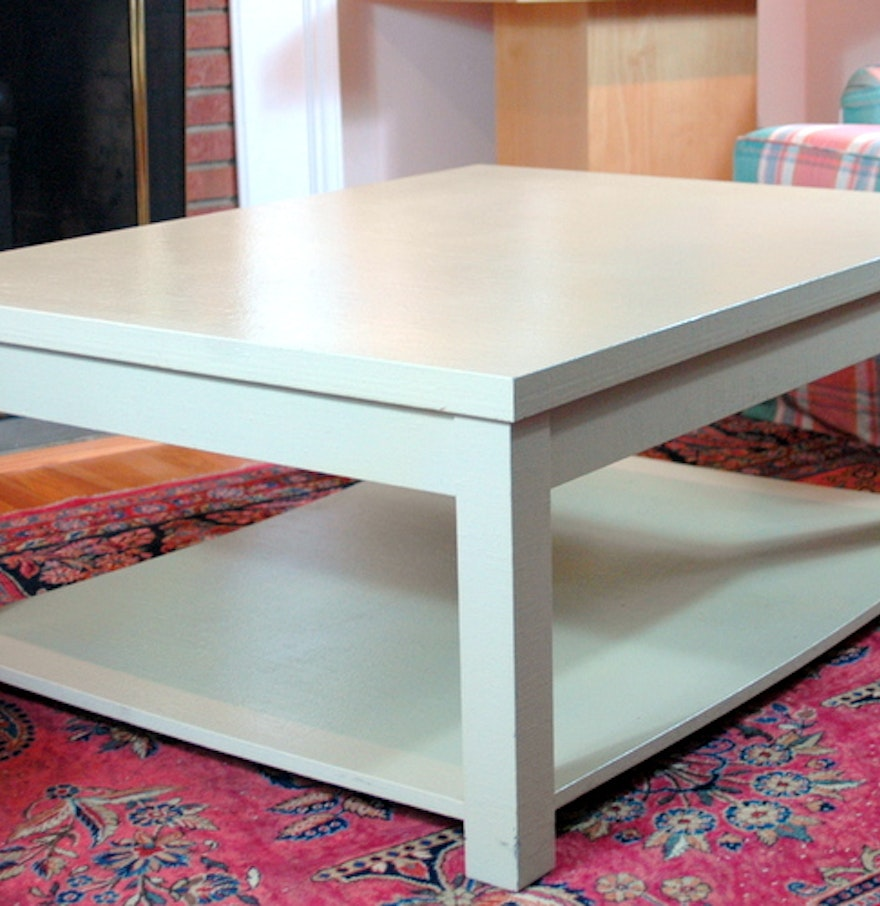 Grasscloth Coffee Table Lacquered Grasscloth Coffee Table In Ivory Ebth