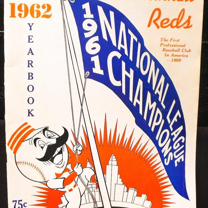 1962 Cincinnati Reds Yearbook Official Score Card Ebth