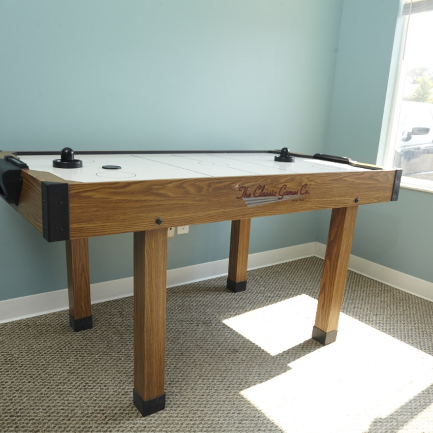 Classic Games Company Air Hockey Table EBTH - Classic air hockey table