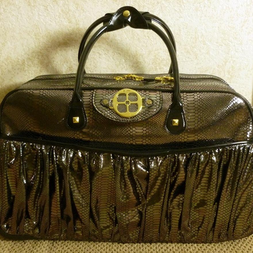 f2bdccd3cf1c Iman Metallic Rolling Travel Bag   EBTH