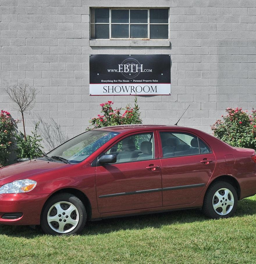 red 2006 toyota corolla ce automatic four door sedan ebth. Black Bedroom Furniture Sets. Home Design Ideas