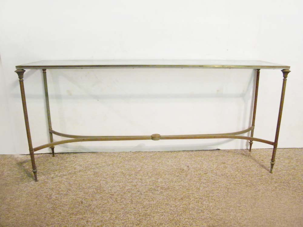 Brass and Glass Console Table EBTH