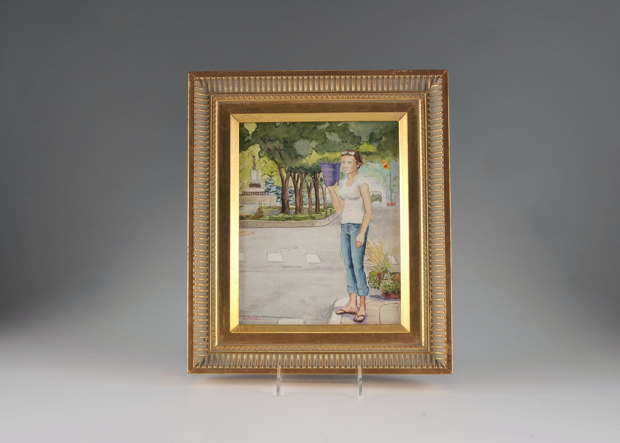 Original Tom Lohre Oil on Board Painting