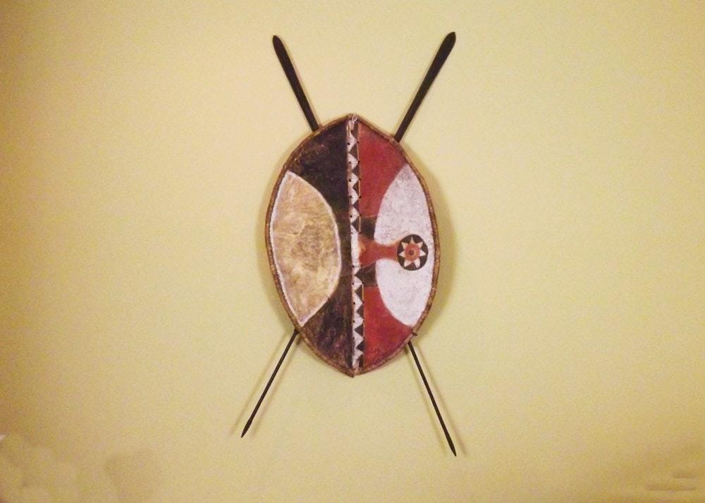 African Maasai Tribal Shield