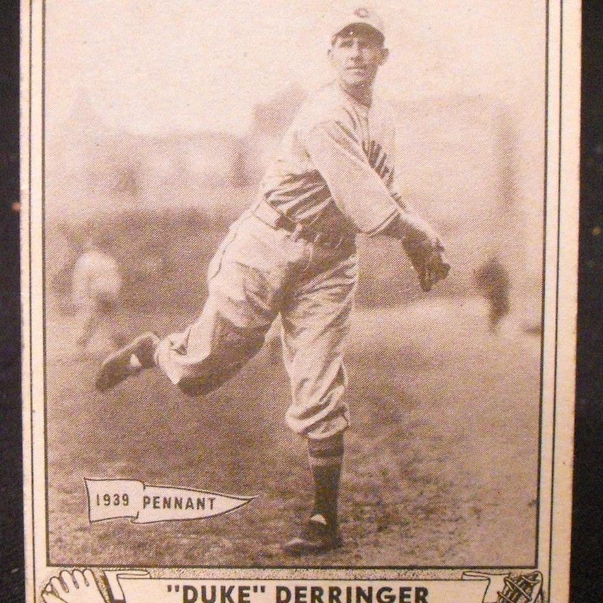 1940 Paul Duke Derringer Play Ball Baseball Card 1939 Pennant Winner
