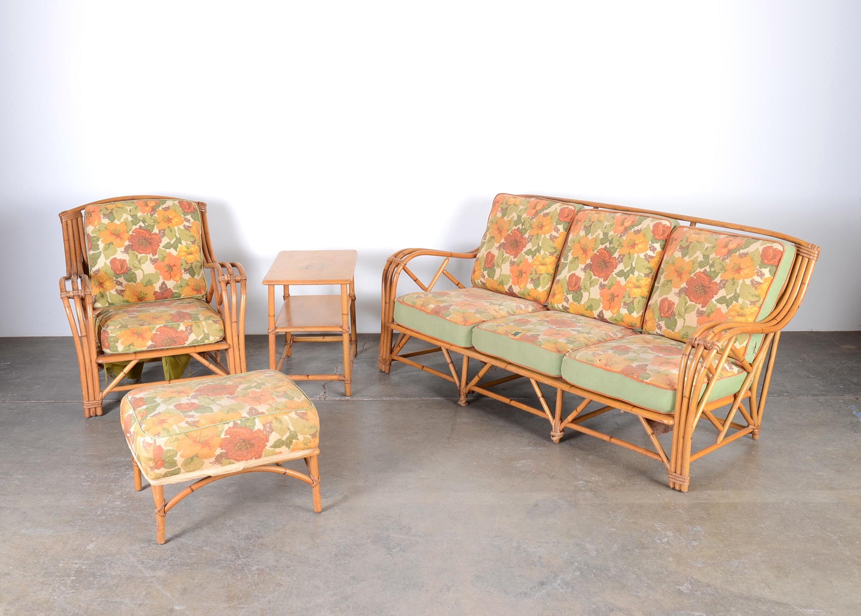mid century heywood wakefield rattan patio furniture ebth rh ebth com heywood wakefield couch and chair heywood wakefield wicker sofa