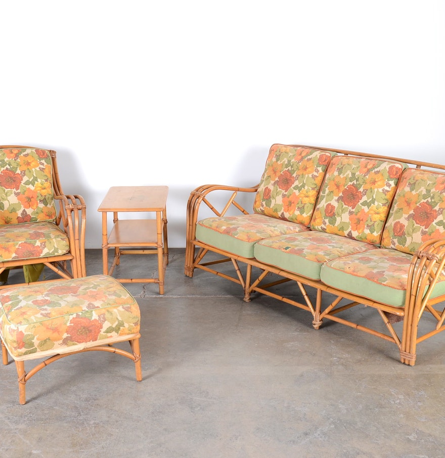 Mid Century Outdoor Furniture: Mid Century Heywood Wakefield Rattan Patio Furniture : EBTH