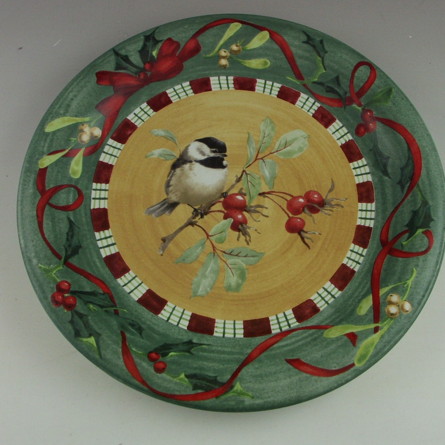 Set of four lenox winter greetings everyday dinner plates ebth set of four lenox winter greetings everyday dinner plates m4hsunfo