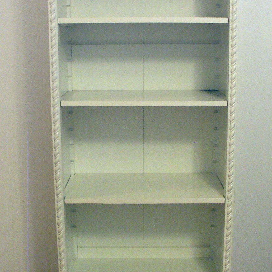 Simply Shabby Chic White Bookcase