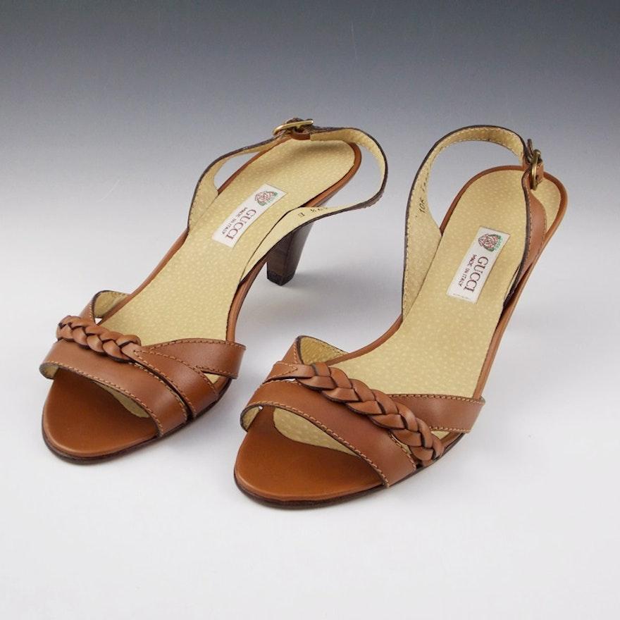 a1eb1e17597 Never Worn Vintage Gucci Leather Sling Back Sandals ...  M 590a398d41b4e0bd1d013947