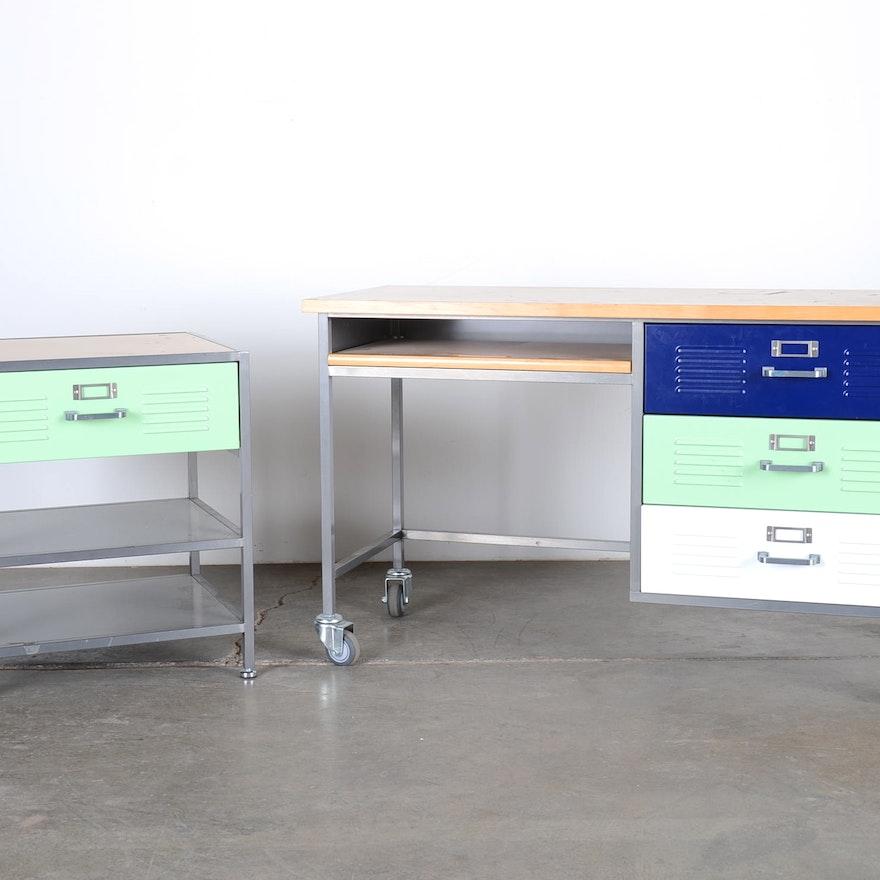 Pottery Barn Teen Locker Desk Set Ebth