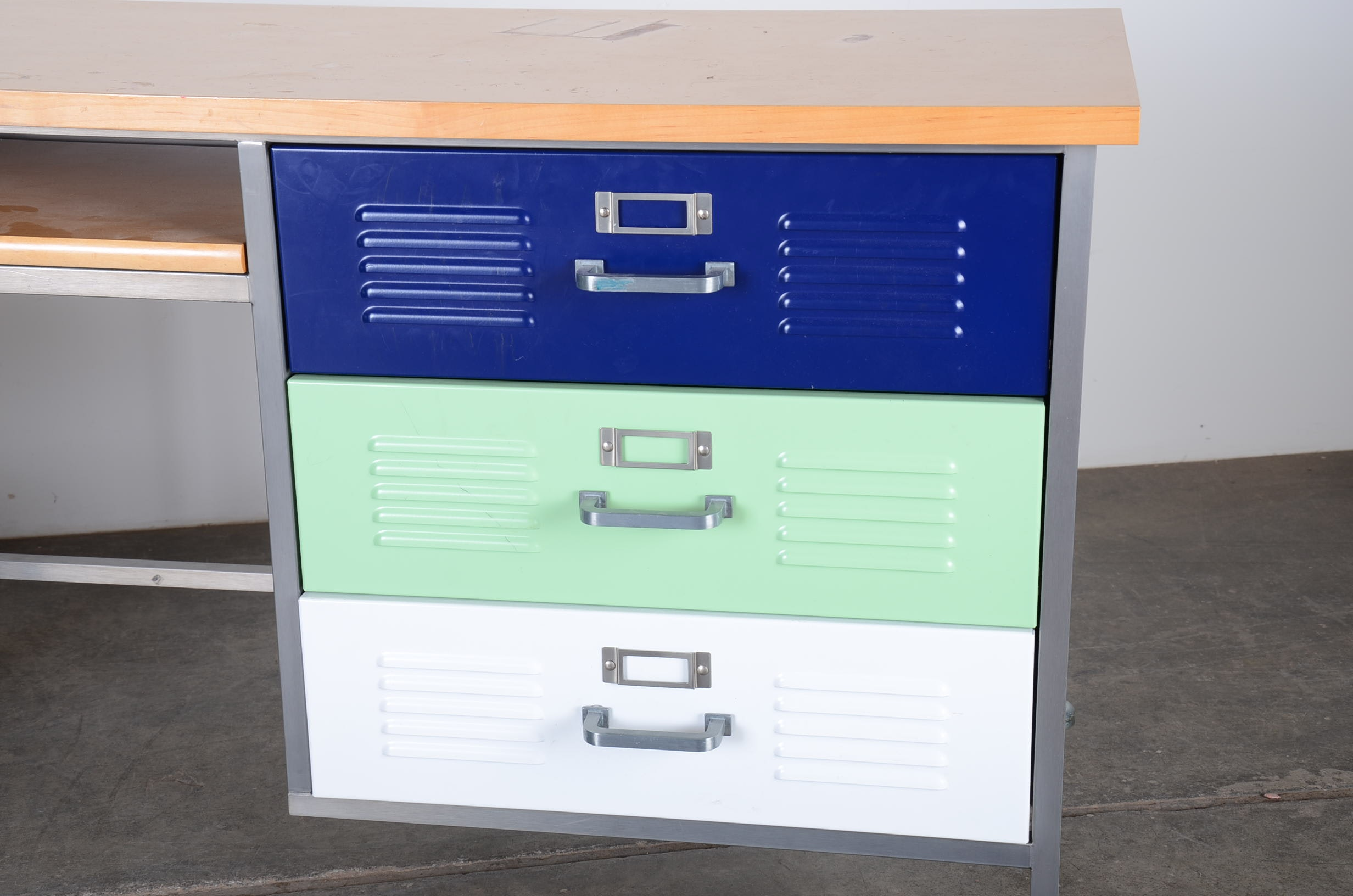 Pottery Barn Teen Locker Desk Set Ebth