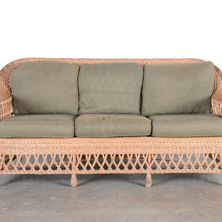 Wicker Sofa By Henry Link