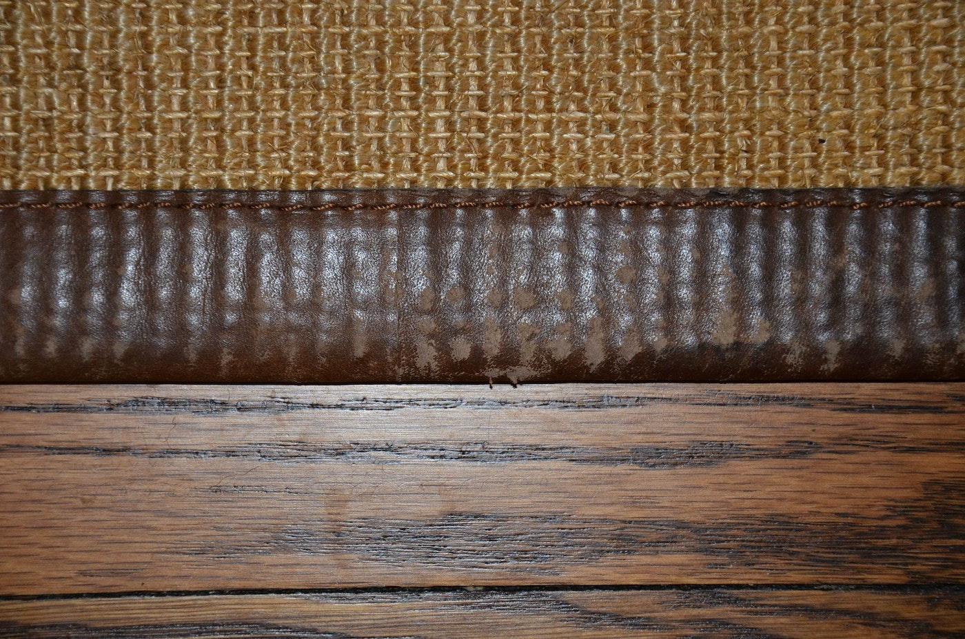 Restoration Hardware Sisal Rug With Leather Border Ebth