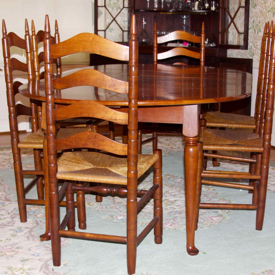 Henkel Harris Dining Room Furniture: Henkel Harris Solid Cherry Dining Table And Chairs