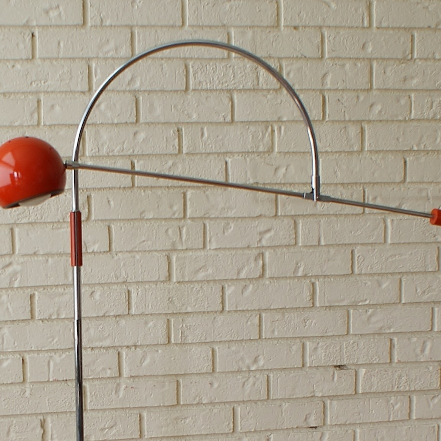 Robert sonneman orbiter orange mid century modern floor lamp ebth robert sonneman orbiter orange mid century modern aloadofball Images