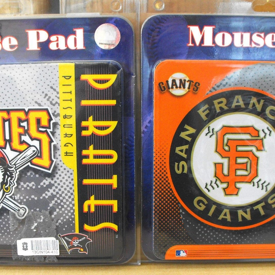 (12) MLB Computer Mouse Pads/MIP