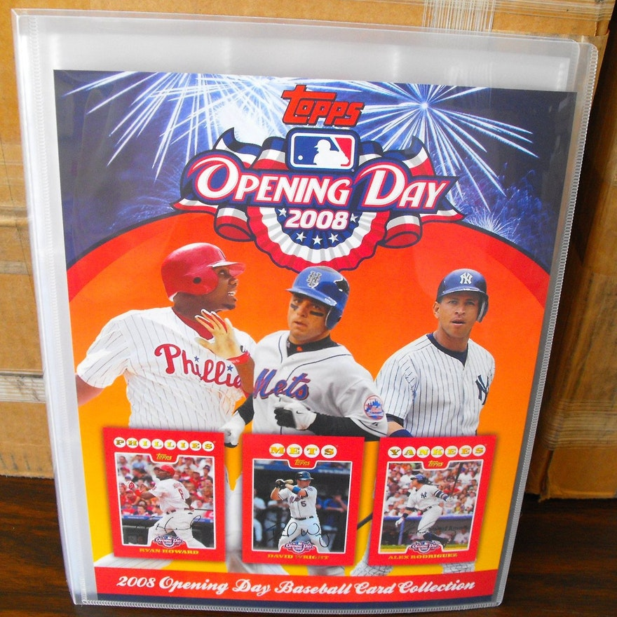 34 2008 Topps Opening Day Baseball Binders For Cards