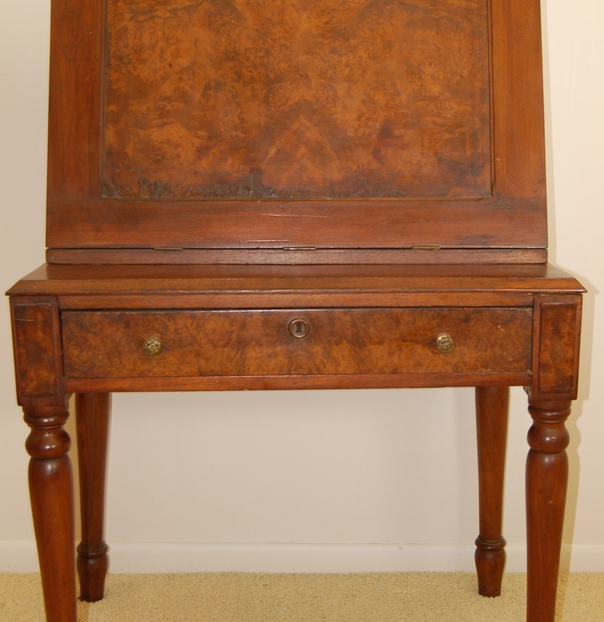 Antique Fall Front Plantation Desk ... - Antique Fall Front Plantation Desk : EBTH