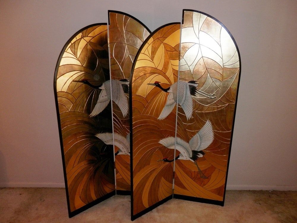 Asian Themed Folding Screens