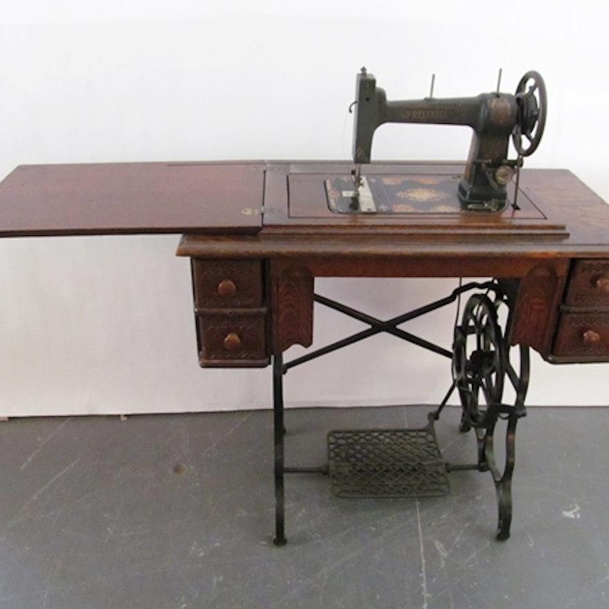 Anitque AG Mason Treadle Sewing Machine EBTH Classy Treadle Sewing Machine Needles