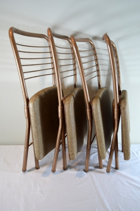 Mid Century Vintage Cosco Hamilton Folding Chair Ebth